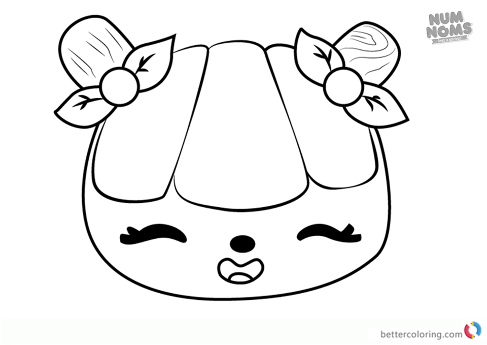 Lemony Pop from Num Noms coloring pages printable