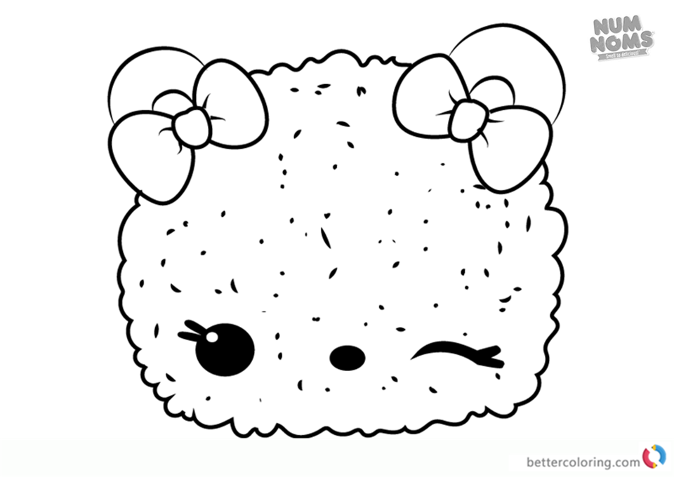 Peachy Icy from Num Noms coloring pages printable