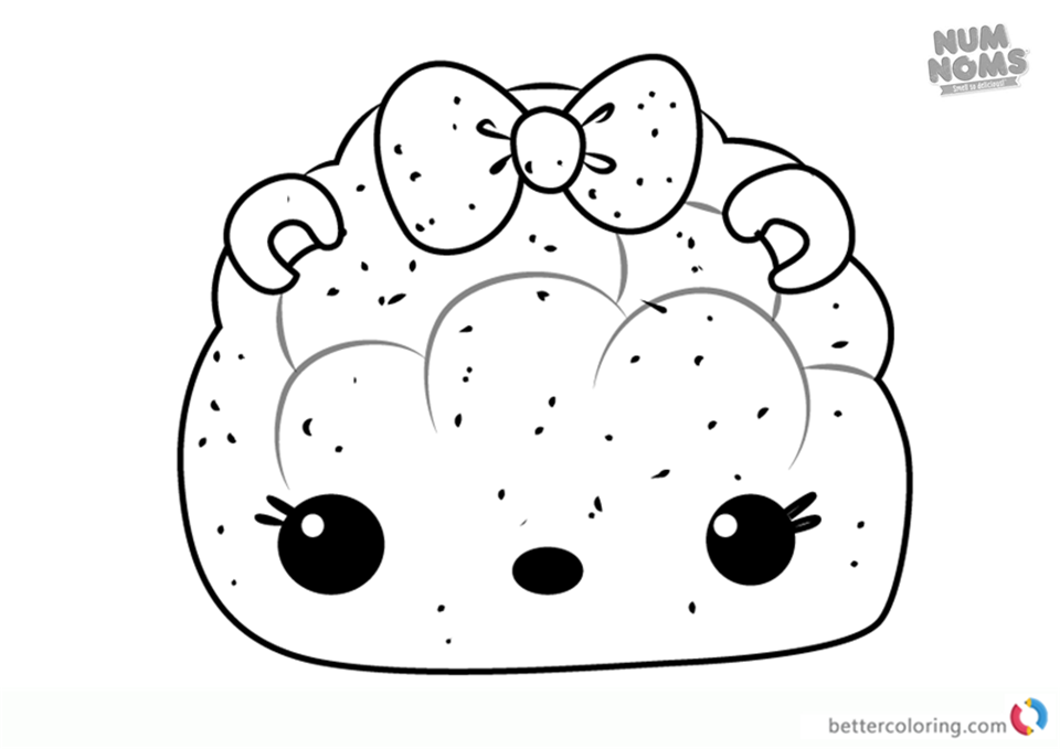 Peachy Light-Up from Num Noms coloring pages printable
