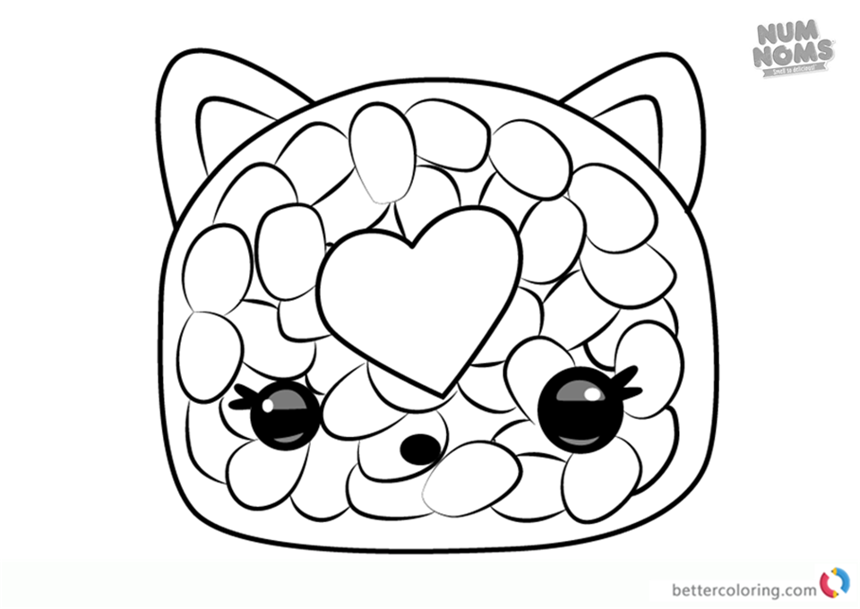 Num noms coloring pages series 2 phili roll free for Num noms coloring pages free