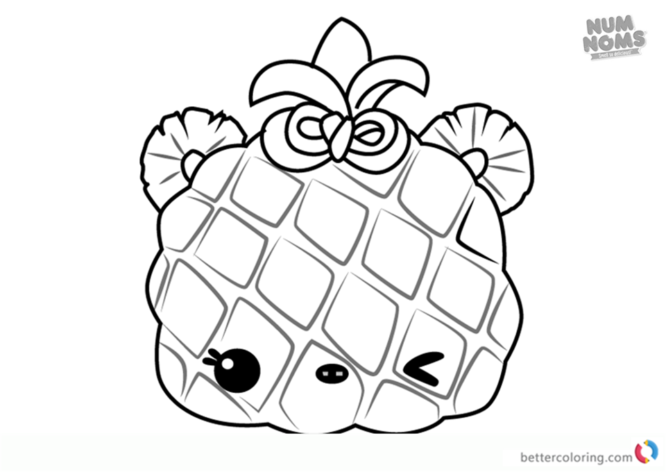 Num Noms Coloring Pages Series 3 Piney Apple Free Printable Coloring Pages