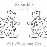Put Me in the Zoo Coloring Pages Blue Spots
