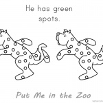 Put Me in the Zoo Coloring Pages Green Spots