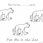 Put Me in the Zoo Coloring Pages He Has No Spot
