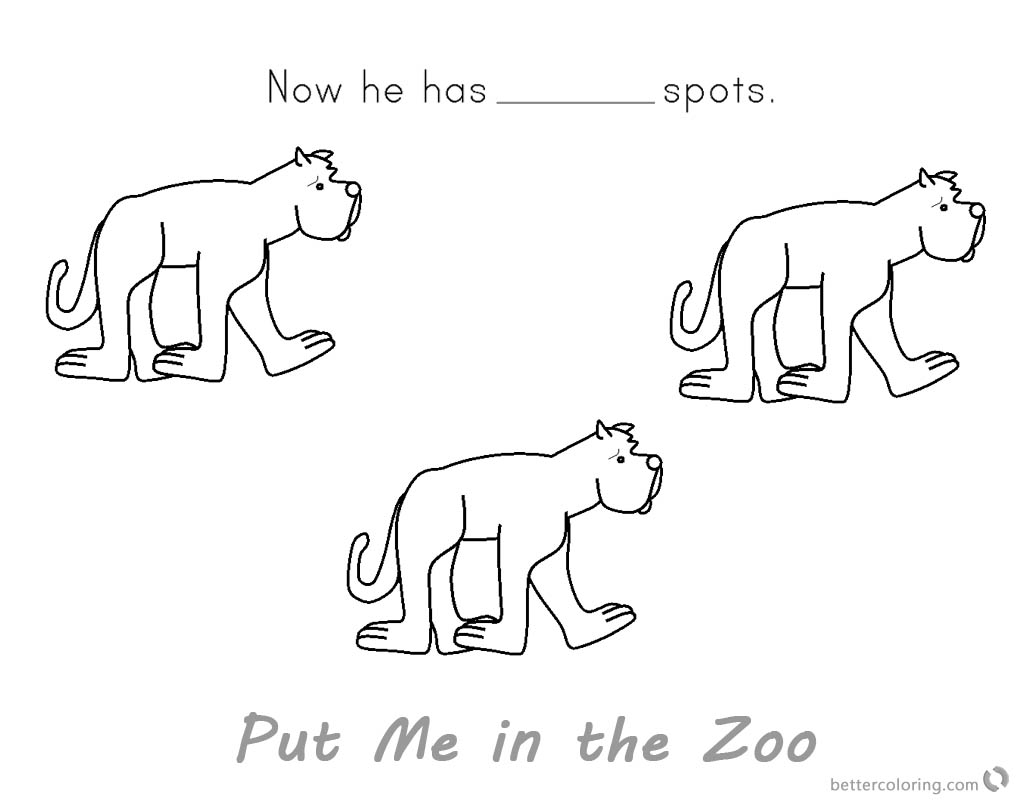 Put Me in the Zoo Coloring Pages He Has No Spot printable