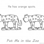 Put Me in the Zoo Coloring Pages Orange Spots