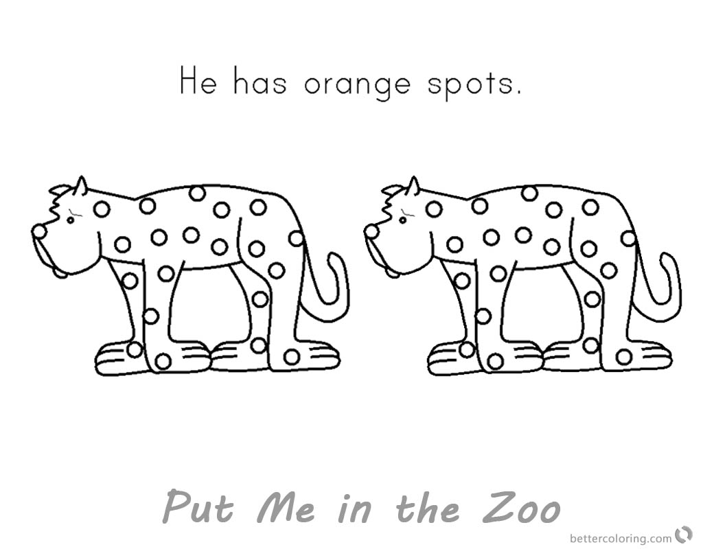Put Me in the Zoo Coloring Pages Orange Spots - Free Printable ...