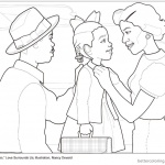 Ruby Bridges Coloring page Goes to School with book - Free ...