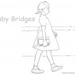 Ruby Bridges Coloring page Goes to School