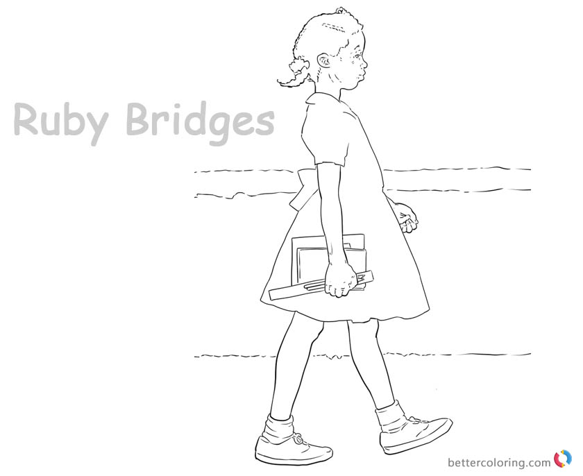 Ruby Bridges Coloring page Goes to School - Free Printable ...