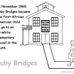 Ruby Bridges Coloring page Kids Lesson Activities