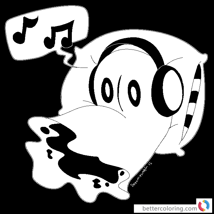 Undertale coloring pages blooky by deeum printable