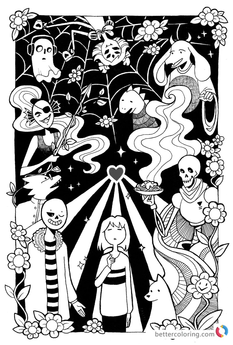 Undertale Coloring Pages By Faliti Free Printable