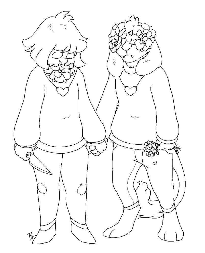 Undertale coloring pages by warrioratheart printable