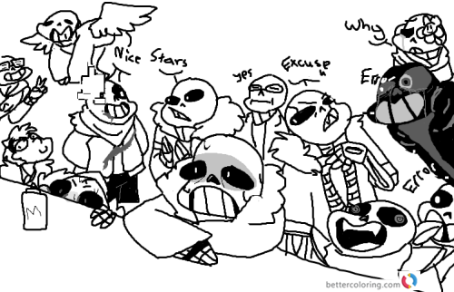 Undertale coloring pages emotions