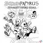 Undertale coloring pages sans papyrus