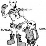 Undertale coloring pages skelebros by smudgeandfrank