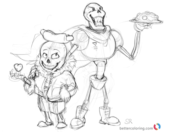 Undertale coloring pages sketch printable