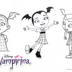 Vampirina coloring pages 3 in 1