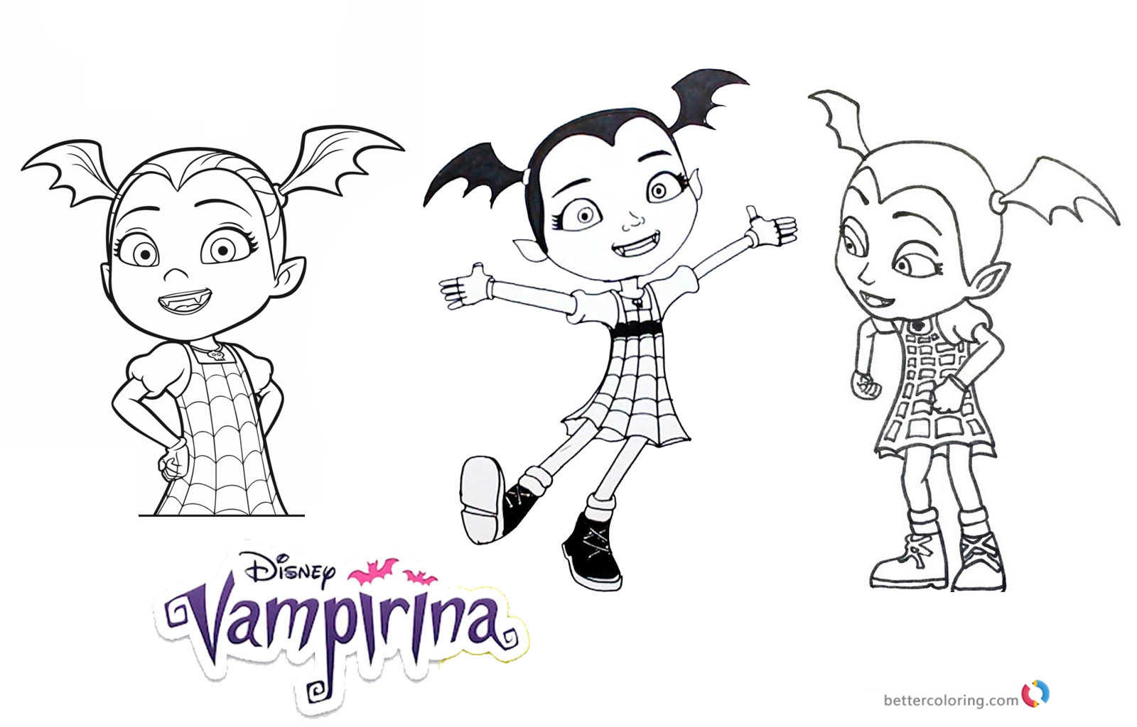 Dibujos Para Colorear Vampirina: Vampirina Coloring Pages 3 In 1