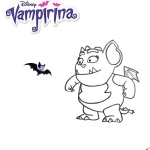 Vampirina coloring pages Gregoria and bat