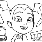Vampirina coloring pages Makeup