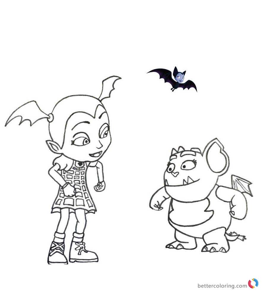 Vampirina coloring pages Vampirina and Gregoria printable