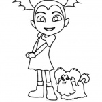 Vampirina coloring pages Vampirina and Wolfie sketch