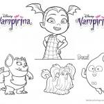 Vampirina coloring pages Vampirina and cute characters