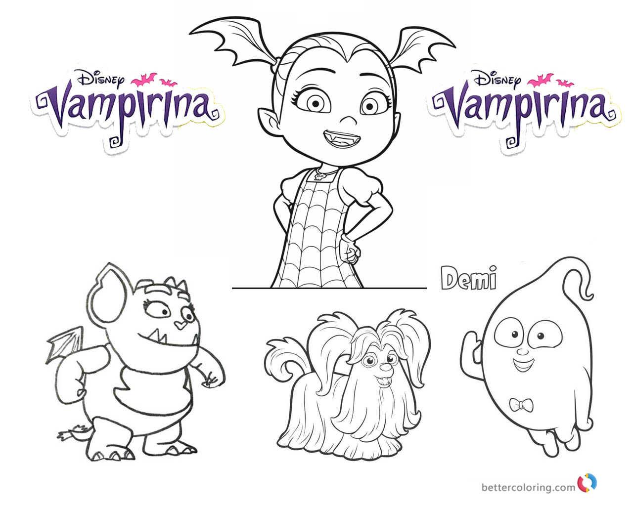 Vampirina coloring pages Vampirina