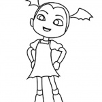 Vampirina coloring pages fan art