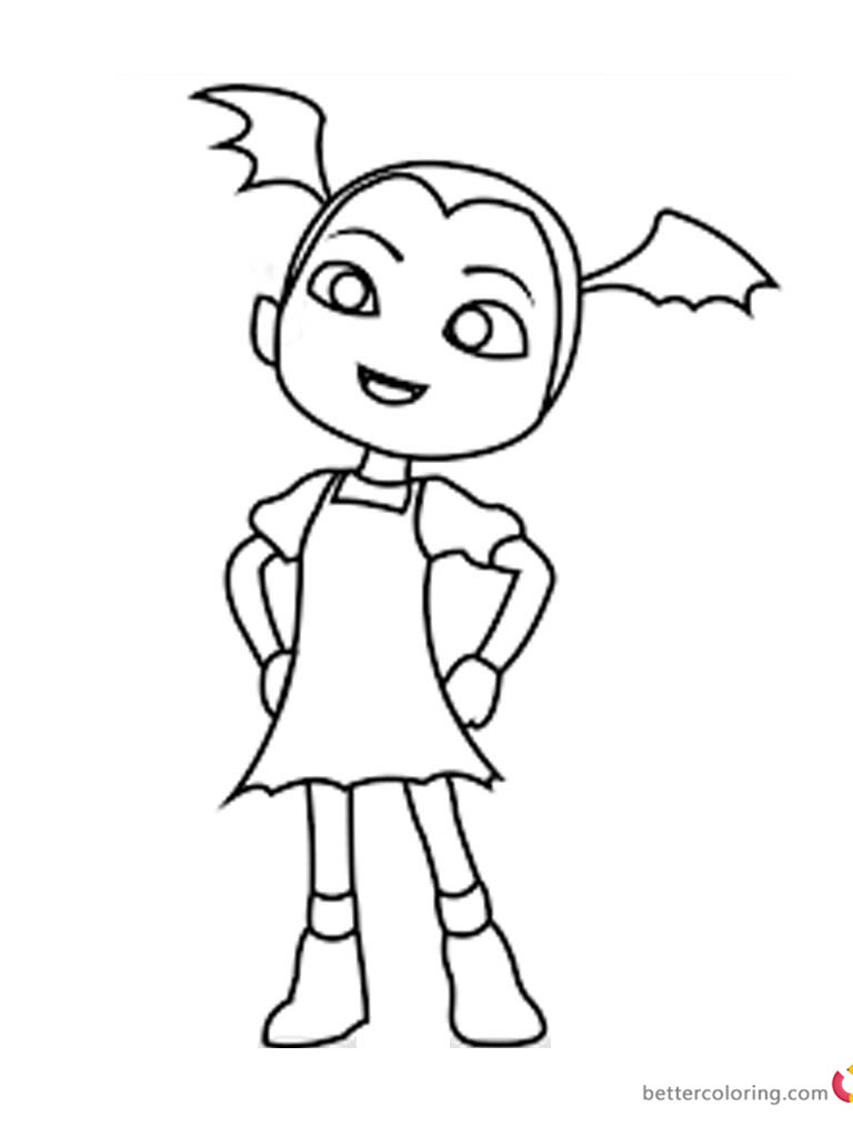 Vampirina coloring pages fan art printable