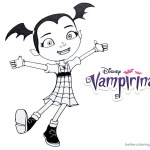 Vampirina coloring pages happy