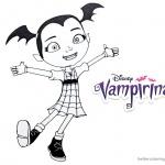 Vampirina coloring pages happy