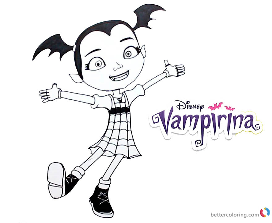 Vampirina coloring pages happy printable