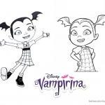 Vampirina coloring pages lineart