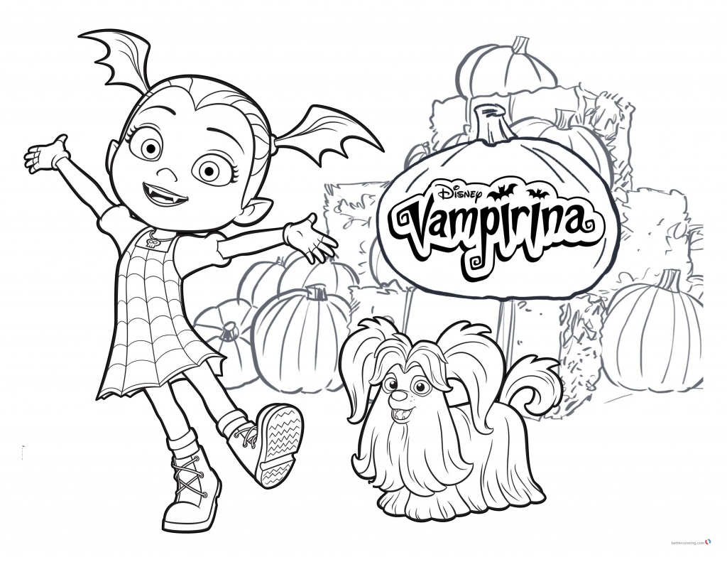 Vampirina coloring pages Vampirina and Wolfie - Free ...