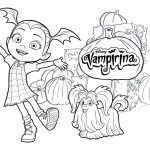Vampirina coloring pages with Wolfie