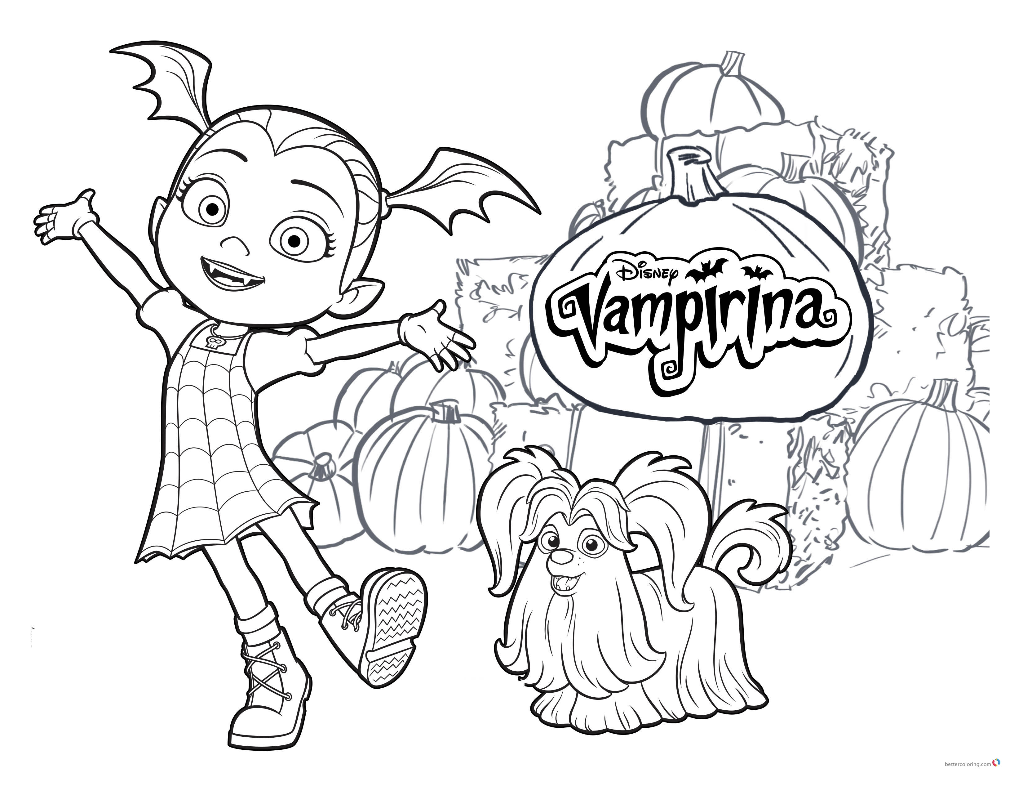 Vampirina coloring pages Vampirina and Wolfie printable
