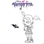 Vampirina coloring pages with bat