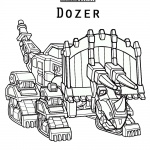 dinotrux Dozer coloring pages