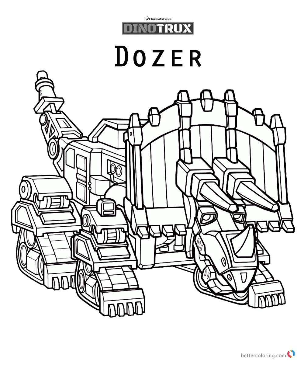 Dinotrux Dozer coloring pages printable