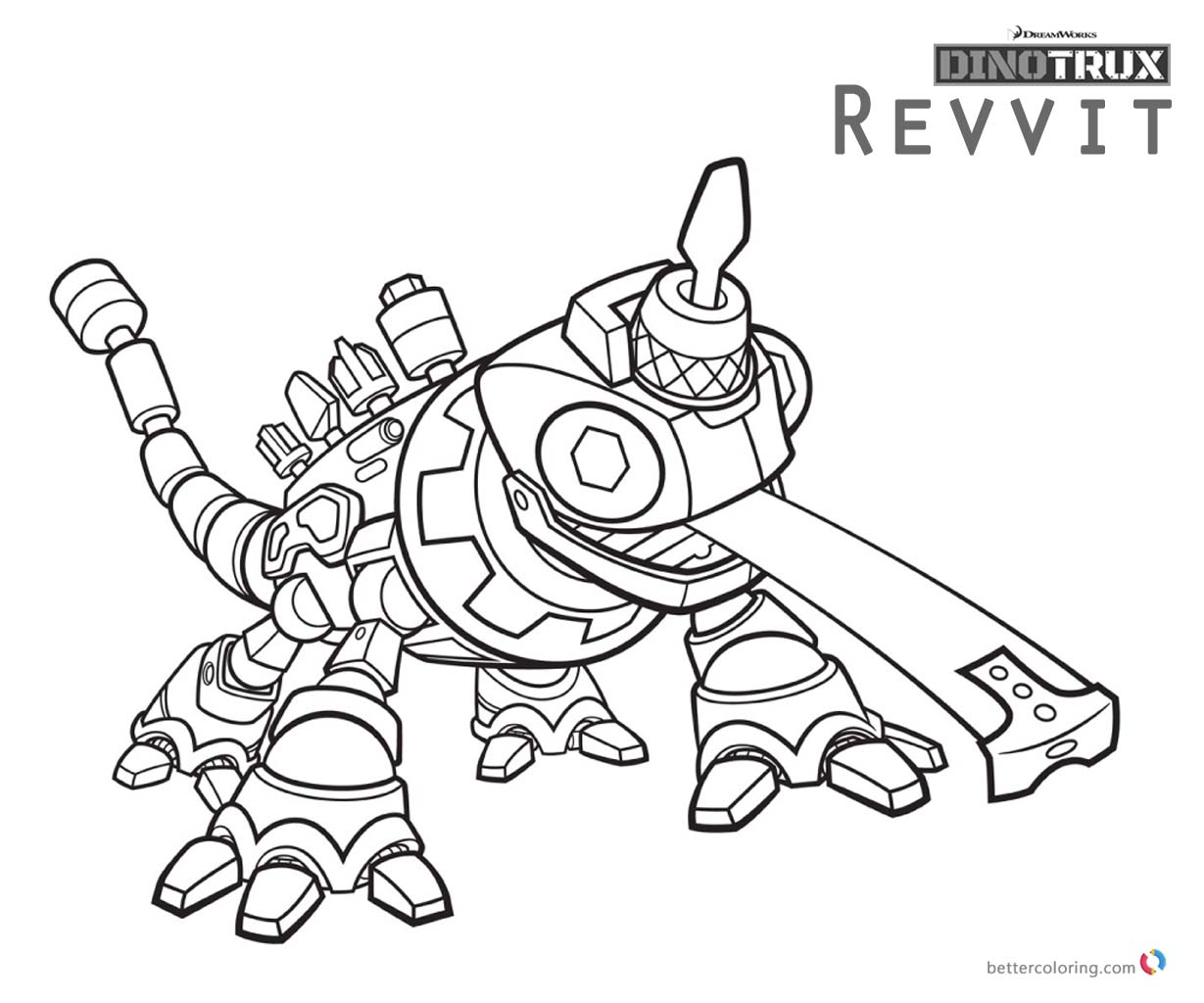 Dinotrux Revvit coloring pages printable