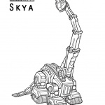 dinotrux Skya coloring pages