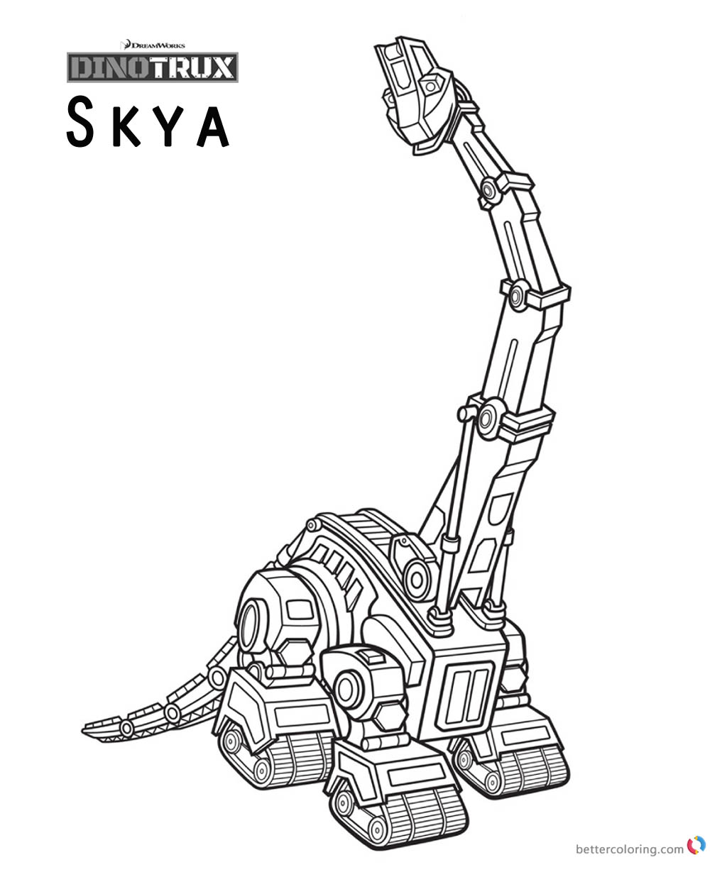 Dinotrux Skya coloring pages printable