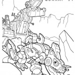 Dinotrux coloring pages D-Structs and Skrap-it