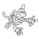 dinotrux coloring pages revvit is jumpping