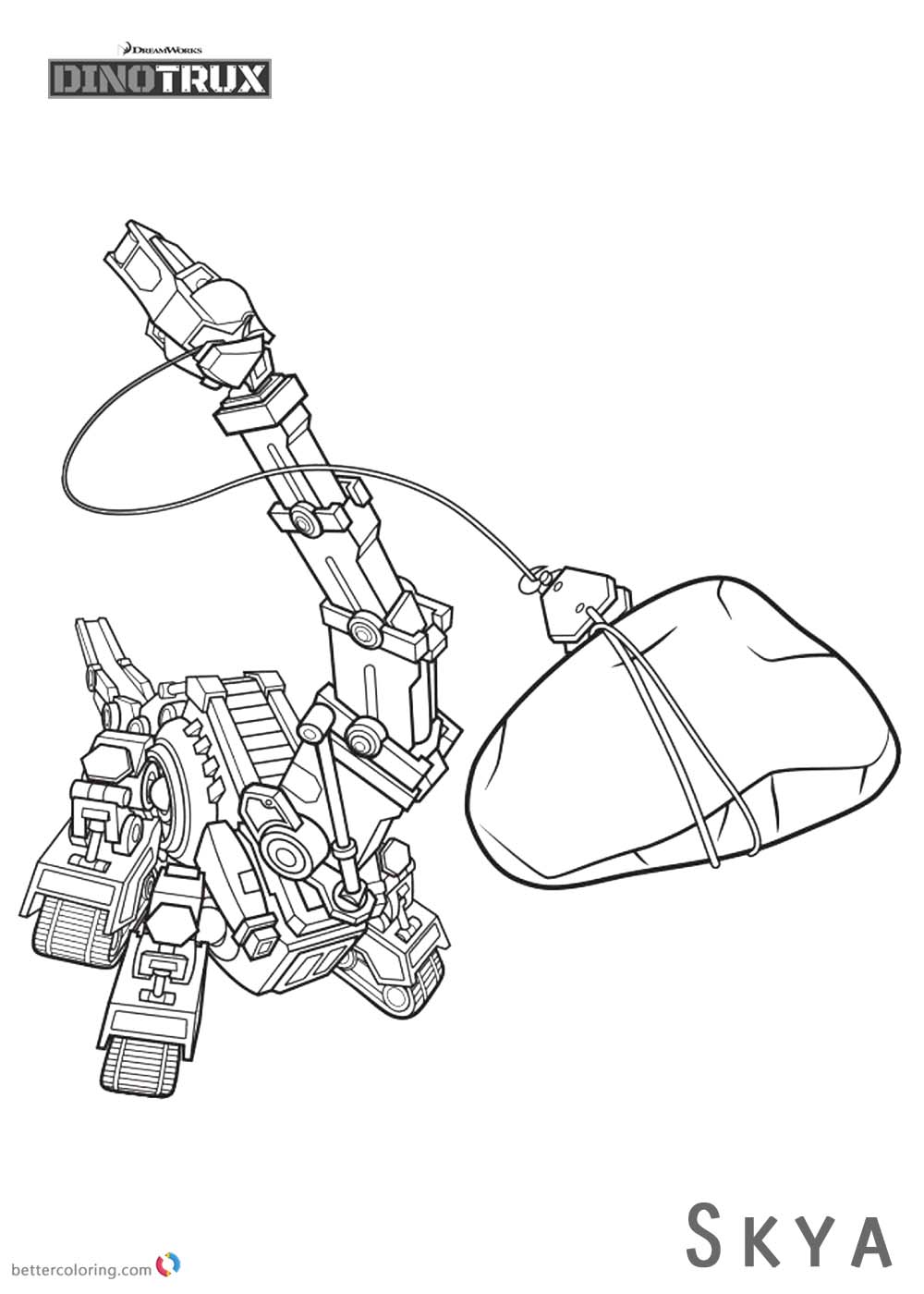 Dinotrux coloring pages Skya working printable