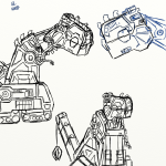 Dinotrux coloring pages D-structs by halonna