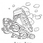 Dinotrux coloring pages Ton-Ton